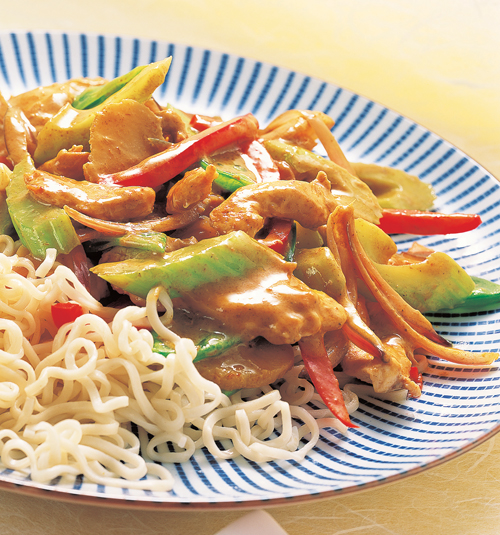 STIR-FRIED VEGETABLE WITH COCONUT MILK