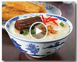 Fried Mackerel in Black Bean Porridge