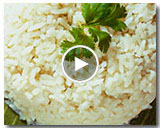 Coconut Rice with Pandan Leaves
