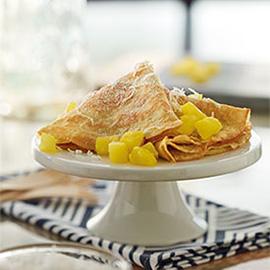 菠萝椰子薄饼